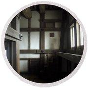 Himeji Medieval Castle Interior - Japan Round Beach Towel