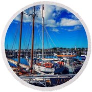 Round Beach Towel featuring the photograph Hindu by Kendall McKernon