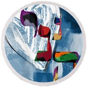 Hineni Heart- Art By Linda Woods Round Beach Towel