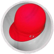 Hints Of Red - Hat Round Beach Towel