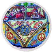 Hippie Round Beach Towel