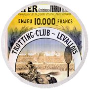 Hippodrome Du Trotting Club Levallois Round Beach Towel