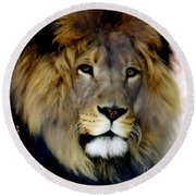 His Majesty The King Round Beach Towel