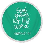 His Word Round Beach Towel