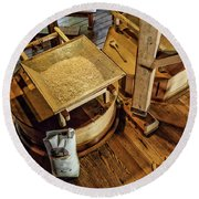 Historic Bale Mill Round Beach Towel