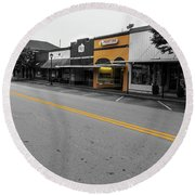 Historic Buford In Selective Color Round Beach Towel