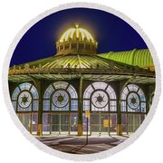 Historic Carousel Building, Asbury Park Nj Round Beach Towel