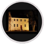 Historic Carter Mansion  Round Beach Towel