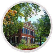 Historic Dahlonega Georgia Courthouse Round Beach Towel