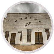 Historic Gruene Hall Round Beach Towel
