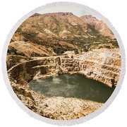 Historic Iron Ore Mine Round Beach Towel