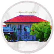 Historic Rio Grande Station Round Beach Towel