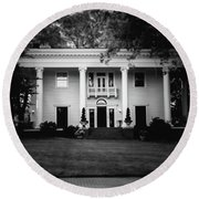 Historic Southern Home Round Beach Towel
