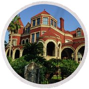 Round Beach Towel featuring the photograph Historical Galveston Mansion by Tikvah's Hope