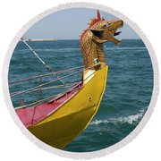 Historical Yacht Round Beach Towel