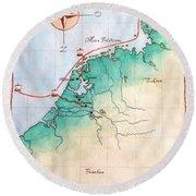 Magna Frisia- Frisian Kingdom Round Beach Towel