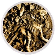History Unearthed Round Beach Towel