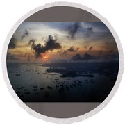 HK Round Beach Towel