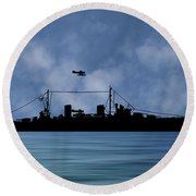 Hms Aboukir 1936 V1 Round Beach Towel