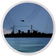 Hms Aboukir 1936 V4 Round Beach Towel
