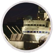 Hms Belfast Bridge Round Beach Towel