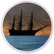 Hms Royal Albert 1854 V3 Round Beach Towel