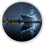 Hms Westminster Round Beach Towel