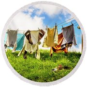 Hobbit Clothesline Round Beach Towel