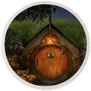Hobbit Dwelling Round Beach Towel