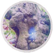 Round Beach Towel featuring the photograph Hobbit House by Jean OKeeffe Macro Abundance Art