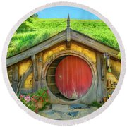 Hobbit House Round Beach Towel