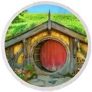 Hobbit House Round Beach Towel