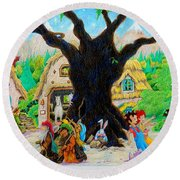 Hobbit Land Round Beach Towel