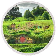 Hobbit Lane Round Beach Towel
