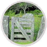 Hobbit's Gate Round Beach Towel