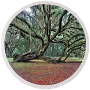 Hofwyl-broadfield Plantation2 Round Beach Towel