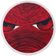 Hog Eyes 2 Round Beach Towel