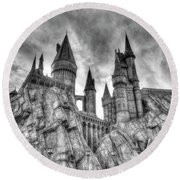 Hogwarts Castle 1 Round Beach Towel