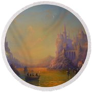 Hogwarts Castle Round Beach Towel by Joe Gilronan