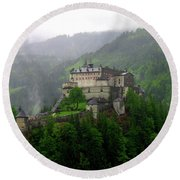 Hohenwerfen Castle Round Beach Towel by Sheila Ping