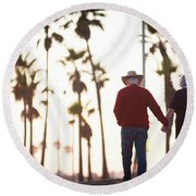 Hold On To Your Love Round Beach Towel by Ralph Vazquez