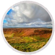 Hole Of Horcum, North York Mores, Yorkshire, United Kingdom Round Beach Towel