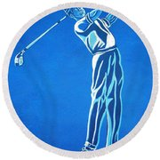 Round Beach Towel featuring the photograph Hole In One ... by Juergen Weiss