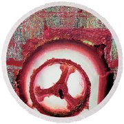 Round Beach Towel featuring the mixed media Hole Opposite by Tony Rubino