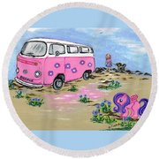 Holidays  Round Beach Towel by Teresa White