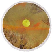Round Beach Towel featuring the mixed media Hollow's Eve by Trish Tritz