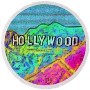 Hollycolorwood Round Beach Towel