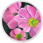 Holly's Round Beach Towel by T Fry-Green