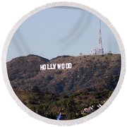 Hollywood And Helicopters Round Beach Towel