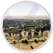 Hollywood Round Beach Towel by Michael Weber